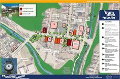 This shows the recommendations for development in the Borough of Austin as proposed in the Master Site Plan for the Dam Park at Austin!