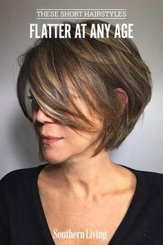 Pin on Haircuts Short Bob Haircuts for Older Women - This haircut lasts forever and it is never boring. In this article, we offer you short bob haircuts for older women! Haircut For Older Women, Bob Haircuts For Women, Short Bob Haircuts, New Haircuts, Layered Haircuts, Straight Hairstyles, Haircut Short, Long Asymmetrical Hairstyles, Short Hair Older Women