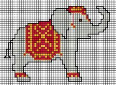 Elephant x-stitch pattern