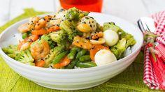 Asian-style vegetables for dinner