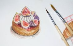 Fig Tart, Faber Castell, Colours, Watercolor, Cat, Inspired, Inspiration, Instagram, Decor