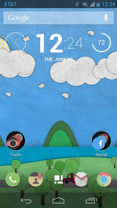 A custom Android 4.1.1 Home Screen.
