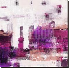 Purple Abstract II Stretched Canvas Print at Art.co.uk