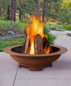 This Atlas Fire Pit by Real Flame is perfect! #zulilyfinds