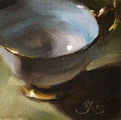 """Teacup Collection III"" - Original Fine Art for Sale - © Pamela Blaies"