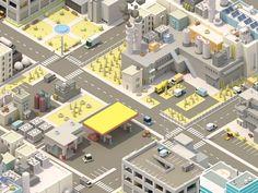 Isometric City #1 by Alex Safayan