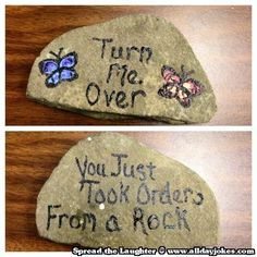 Hahaha - Taking orders from a Rock