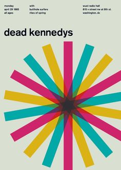 Swiss Dead Kennedys poster - love how it references their DK mark