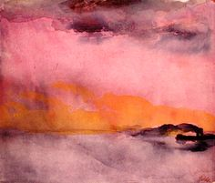 bofransson:    Steamer under Red-Yellow Sky - Emil Nolde