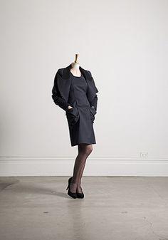 Alexandra Owen Winter 2011 Lookbook. interesting pocket on otherwise plain dress.