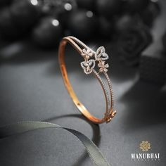 Manubhai Jewellers, Bangles, Bracelets, Diamond Jewelry, Diamonds, Delicate, Jewelry Design, Instagram, Fashion