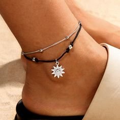 Mariner Link Sterling Silver /& 14k Yellow Gold Italy Chain Anklet 3.5mm Marina
