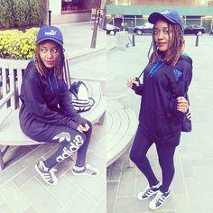 Adidas style  #fashionblogger #ootd #style #outfit #fashion #adidas #adidasoriginals #vintage #puma #like4like #braids #girl #nyc #古着 #スタイル #ファッション #コーディネート #コーデ #asseenonme #asos #photooftheday #instalike #instadaily