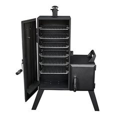 Dyna-Glo Charcoal Offset Wood Chips Meat BBQ Smoker Dual Door Charcoal Turkey