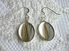 Custom made horse hair earrings - The horse hair is set within resin onto sterling silver earrings. Horse Hair Jewelry, Hair Jewellery, Resin Jewelry, Jewelry Art, Hair Keepsake, Horsehair, Diy Stuffed Animals, Resin Crafts, Baby Boy Outfits