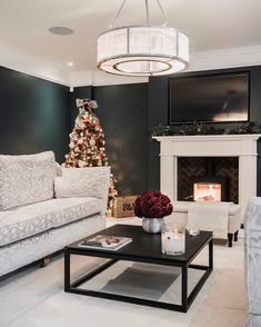 Black and Cream Living Room