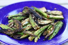 Chez Cayenne: Dry Okra from the Grill