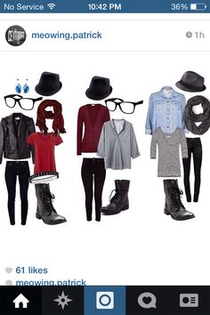 Fall out boy and Patrick stump outfit  i like the one all the ways onto left