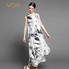Encontrar Más Vestidos Información acerca de VOA blanco ondulado tinta Jiangnan Vestido de Seda Shun taro corto tiempo antes después A6919, alta calidad vestido de seda, China vestido de seda largo Proveedores, barato vestido de seda corta de VOA Flagship Shop en Aliexpress.com