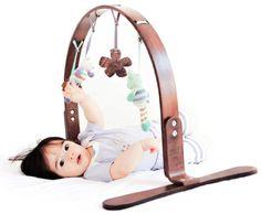 Finn + Emma Wooden Boy's Play Gym, Birch Wood:Amazon:Baby