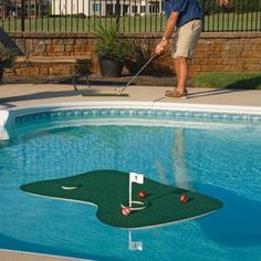 The Ultimate Pool And Backyard Golf Floating Game!
