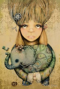 """""""elephant child"""" by Karin Taylor   Redbubble"""