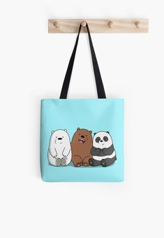 We Bare Bears fan art created by myself. This is not official and is just a fan creation. Baby Bear Cub, Bear Cubs, Gift Boxes For Women, Bear Cartoon, Bear Design, We Bare Bears, Reusable Tote Bags, Fan Art, Animal