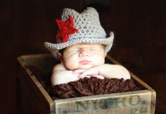 Handmade Western Cowboy Baby Hats in Gray color, Fit for 3 to 6 months babies on Etsy, $19.99