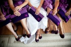 bride and her bridesmaides