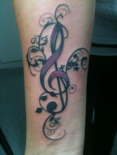 Fancy treble clef