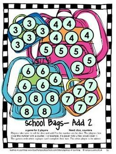Back to School Math Games First Grade by Games 4 Learning for the busy Back to School time! $