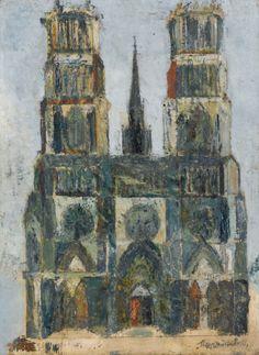 Grande cathédrale ou Cathédrale d'Orléans (Maurice Utrillo, 1913, Musée de l'Orangerie,Paris)