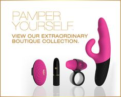 Whether you want to pamper yourself, add a little spice in the bedroom or explore intimacy with your partner, our award winning line of high quality bedroom accessories has something for you. Fast, secure and discreet shipping.