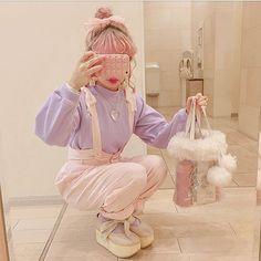 lavender × pink ❤︎ ♡ ♡ ♡ #code#coordinate#used#vintage#salopette#rompers#allinone#pink#lavender#スウェット#pinkhair#pastel#fancy#コーデ#コーディネート#ロンパース#サロペット#スウェット#古着#ビンテージ#ピンク#ラベンダー#古着女子#####