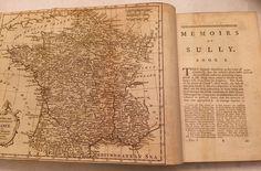 1778 Memoirs of Maximilian de Bethune Duke of Sully Old Book Map of France Vol I | eBay