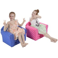 2 Color w/Heart Kid Sofa Armrest Chair Couch Children Living Room Toddler Furniture