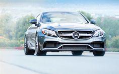 Télécharger fonds d'écran Mercedes-AMG C63 Coupé, en 2017, les voitures, la route, les voitures allemandes, Mercedes