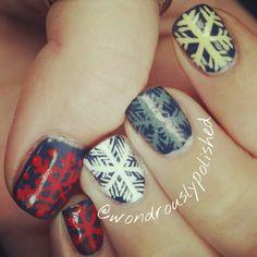 snowflakes by wondrouslypolished    #nail #nails #nailart