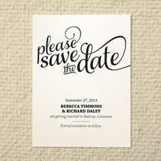 DIY Wedding SavetheDate  Love & Cherish by AmyAdamsPrintables, $15.00