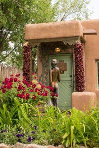 Statue et galerie à Santa Fe, Nouveau Mexique