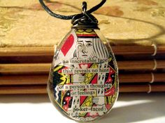 Bohemian Jewelry Poker Playing Card Pendant, King of Hearts ''Poker Face'' Boho Necklace by PrismGypsy