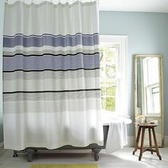 Gallery Stripe Shower Curtain #WestElm