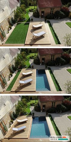 Your pool is all about relaxation. Not every pool must be a masterpiece. Your backyard pool needs to be entertainment central. If you believe an above ground pool is suitable for your wants, add these suggestions to your decor plan… Continue Reading → Small Swimming Pools, Small Pools, Swimming Pools Backyard, Swimming Pool Designs, Small Pool Ideas, Small Backyards, Back Yard Ideas For Small Yards, Small Pool Design, Lap Pools