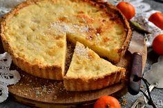 Песочный пирог с творогом, ананасом и кокосом — творожный тарт
