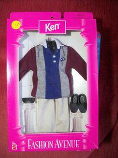 Estate 1997 Ken Fashion Avenue School College Outfit 18099 | eBay