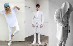 Männer in komplett weißer Kleidung, der Trend 2015