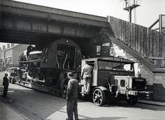 Scammell 100 ton moving a Liberation Class Loco from the Vulcan Works