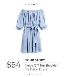 Stitch Fix Your Story, Keltia Off The Shoulder Tie Detail Dress