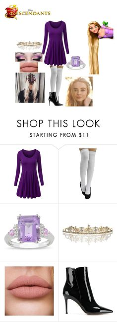 """""""Rain; Rapunzel's daughter"""" by mrsmendes2 ❤ liked on Polyvore featuring WithChic, Ice, Disney and Gianvito Rossi"""