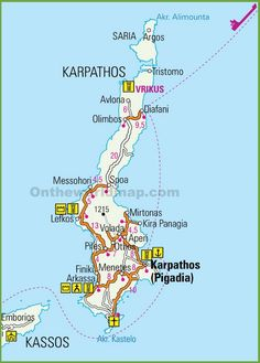 Karpathos road map